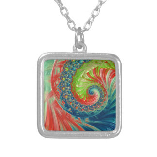 Bright Spiral Silver Plated Necklace