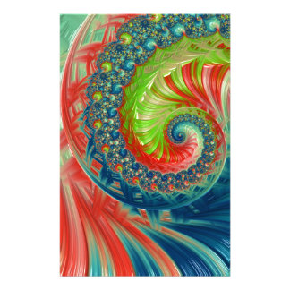 Bright Spiral Stationery