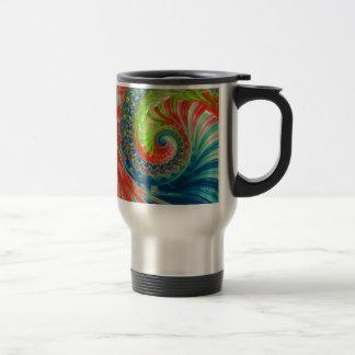 Bright Spiral Travel Mug