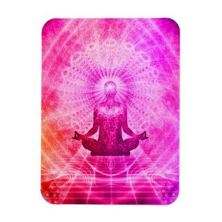 Bright Spiritual Yoga Lotus Pose Magnet
