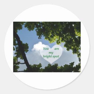 bright spot picnic round sticker