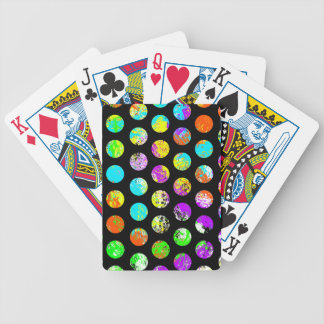 Bright Spots On Black Pattern Bicycle Playing Cards
