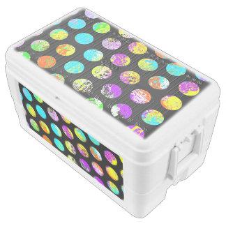 Bright Spots On Black Pattern Cooler