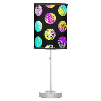 Bright Spots On Black Pattern Desk Lamps