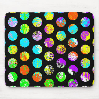 Bright Spots On Black Pattern Mouse Pad