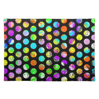 Bright Spots On Black Pattern Placemat