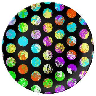 Bright Spots On Black Pattern Plate