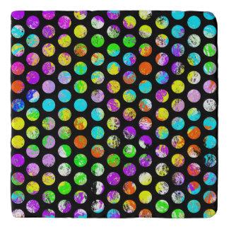 Bright Spots On Black Pattern Trivet