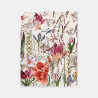 Bright spring field. Romantic pattern Fleece Blanket