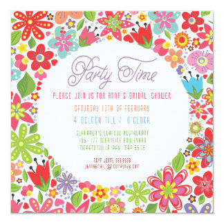 BRIGHT SPRING FLORAL BRIDAL SHOWER INVITATION
