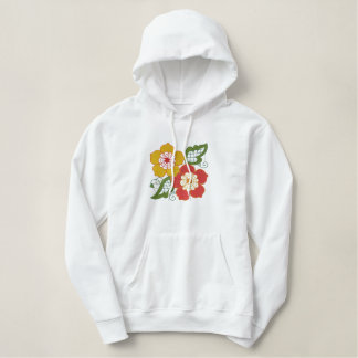 Bright Springy Customizable Floral Emb. Sweatshirt
