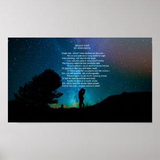 Bright Star, Poem by John Keats Poster