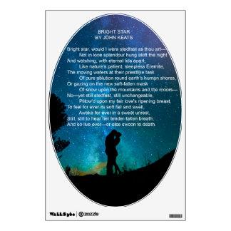 Bright Star, Poem by John Keats Wall Decal