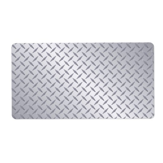 Bright Steel Diamond Plate Background Shipping Label