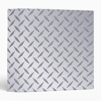 Bright Steel Diamond Plate Background Vinyl Binder
