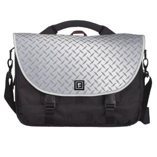 Bright Steel Diamond Plate Commuter Bag