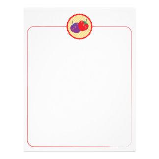 Bright Strawberry Cream Pie Art Letterhead