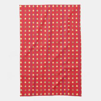 Bright Strawberry Seeds Pattern Kitchen Towel