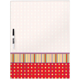 Bright Strawberry Seeds Pattern With Border Dry-Erase Boards