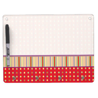 Bright Strawberry Seeds Pattern With Border Dry Erase Whiteboards