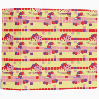 Bright Strawberry Sweet Treats Pattern Binders