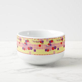 Bright Strawberry Sweet Treats Pattern Soup Mug