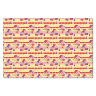 Bright Strawberry Sweet Treats Pattern Tissue Paper