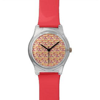 Bright Strawberry Sweet Treats Pattern Watch