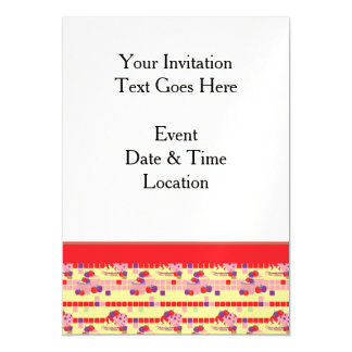 Bright Strawberry Sweet Treats Pattern With Border Magnetic Invitations