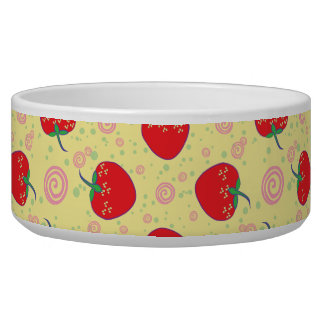 Bright Strawberry Swirl Pattern