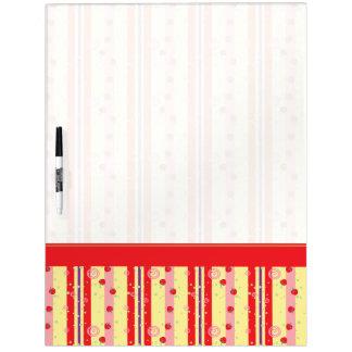 Bright Strawberry Swirl Stripes Pattern - Border Dry-Erase Whiteboard