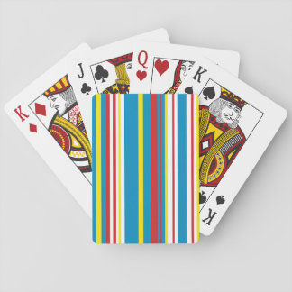 Bright stripe playing card deck