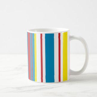 Bright striped cheery mug