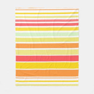 Bright stripes in summer colors fleece blanket
