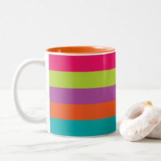 Bright Stripes Two-Tone Mug