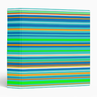 Bright Stripes Vinyl Binder