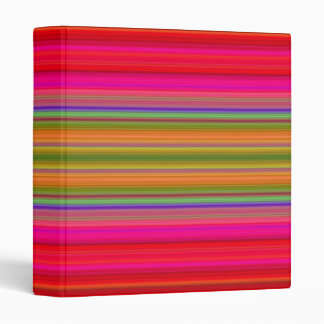 Bright Stripes Vinyl Binders