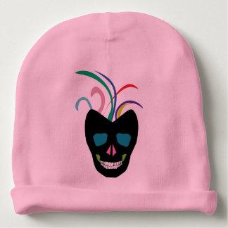 Bright Sugar Skull Baby Beanie