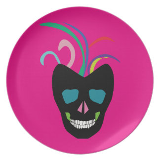 Bright Sugar Skull Plate