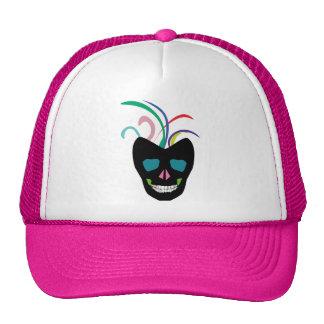 Bright Sugar Skull Trucker Hat