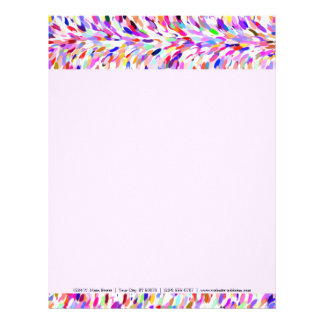 Bright Summer Colors Paint Splatter Pattern Letterhead