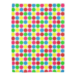 Bright Summer Dot Reversible Personalized Duvet Cover