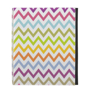 Bright Summer Pastel Chevron Pattern iPad Case