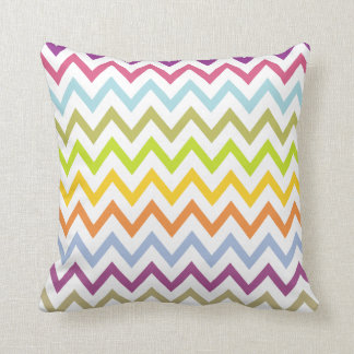 Bright Summer Pastel Chevron Pillow Cushion