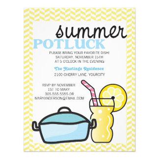 Bright Summer Potluck Custom Invitations