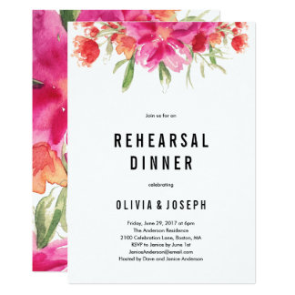 Bright Summer Rehearsal Dinner Invitation