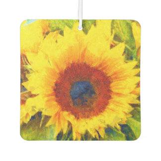 Bright Sunflower Art Car Air Freshener