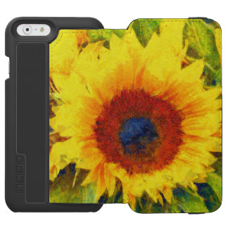 Bright Sunflower Art Incipio Watson™ iPhone 6 Wallet Case