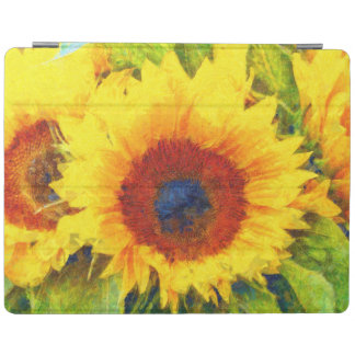 Bright Sunflower Art iPad Cover
