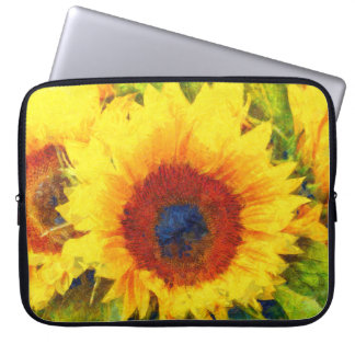 Bright Sunflower Art Laptop Sleeve